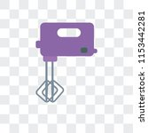 mixer vector icon isolated on... | Shutterstock .eps vector #1153442281