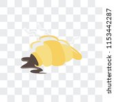 croissant vector icon isolated... | Shutterstock .eps vector #1153442287