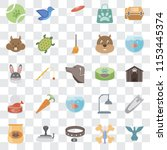 set of 25 transparent icons... | Shutterstock .eps vector #1153445374
