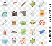 set of 25 transparent icons... | Shutterstock .eps vector #1153445491