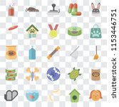 set of 25 transparent icons... | Shutterstock .eps vector #1153446751