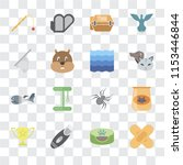 set of 16 transparent icons... | Shutterstock .eps vector #1153446844