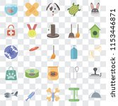 set of 25 transparent icons... | Shutterstock .eps vector #1153446871