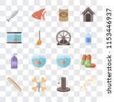 set of 16 transparent icons... | Shutterstock .eps vector #1153446937