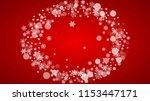 christmas border with white...   Shutterstock .eps vector #1153447171