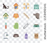 set of 16 transparent icons... | Shutterstock .eps vector #1153450141