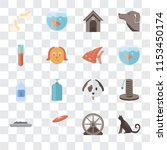 set of 16 transparent icons... | Shutterstock .eps vector #1153450174