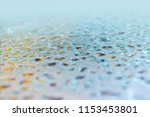 water drops on color surface... | Shutterstock . vector #1153453801