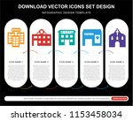 5 vector icons such as... | Shutterstock .eps vector #1153458034