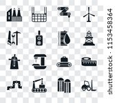set of 16 transparent icons... | Shutterstock .eps vector #1153458364