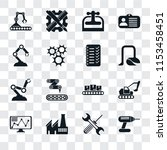 set of 16 transparent icons... | Shutterstock .eps vector #1153458451