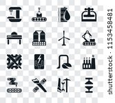 set of 16 transparent icons... | Shutterstock .eps vector #1153458481
