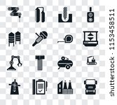 set of 16 transparent icons... | Shutterstock .eps vector #1153458511
