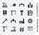 set of 16 transparent icons... | Shutterstock .eps vector #1153458571