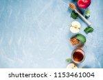 jewish holiday rosh hashanah or ... | Shutterstock . vector #1153461004