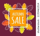 autumn sale banner with orange... | Shutterstock .eps vector #1153461514