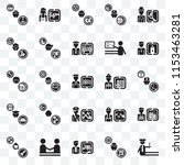 set of 25 transparent icons... | Shutterstock .eps vector #1153463281
