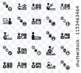 set of 25 transparent icons... | Shutterstock .eps vector #1153463464