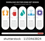 5 vector icons such as human... | Shutterstock .eps vector #1153463824