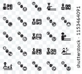 set of 25 transparent icons... | Shutterstock .eps vector #1153464091