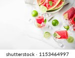 sweet summer watermelon and...   Shutterstock . vector #1153464997