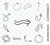 set of 13 transparent icons... | Shutterstock .eps vector #1153466617