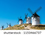 spanish windmills  like those... | Shutterstock . vector #1153466737