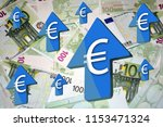 euro is rapidly gaining value...   Shutterstock . vector #1153471324