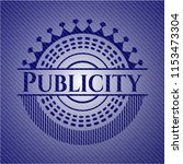 publicity emblem with denim... | Shutterstock .eps vector #1153473304