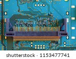 electronic circuit board close... | Shutterstock . vector #1153477741