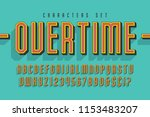 sport and techno display font... | Shutterstock .eps vector #1153483207