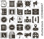 set of 25 icons such as home ...