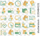set of 25 icons such as archive ...