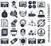 set of 25 icons such as link ...
