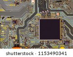 electronic circuit board close... | Shutterstock . vector #1153490341