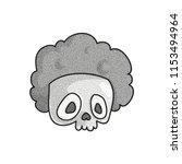 stippled funny skull . dotted... | Shutterstock .eps vector #1153494964