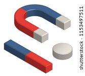 set of magnets  horseshoe  bar... | Shutterstock .eps vector #1153497511