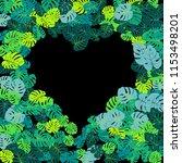 green tropical jungle leaves... | Shutterstock .eps vector #1153498201