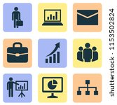 trade icons set with team ... | Shutterstock .eps vector #1153502824