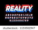 modern bold 3d font design ... | Shutterstock .eps vector #1153502947