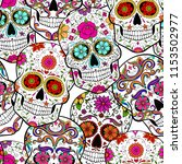 Halloween Seamless Pattern With ...
