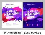 vector layout design template... | Shutterstock .eps vector #1153509691