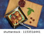 cheesecakes or cheese pancake... | Shutterstock . vector #1153516441