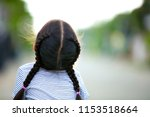 portrait of a cute asian little ... | Shutterstock . vector #1153518664