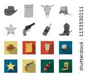 star sheriff  colt  dynamite ...   Shutterstock . vector #1153530211