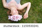 beautiful teenager nordic girl... | Shutterstock . vector #1153533241