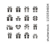 gift box icons on white... | Shutterstock .eps vector #1153534834