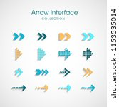 arrow sign icon set. simple...
