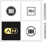 initial letter ah logo template ... | Shutterstock .eps vector #1153542004
