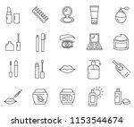 set of cosmetics related vector ... | Shutterstock .eps vector #1153544674